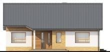 Проект загородного коттеджа с тремя спальнями и двускатной крышей