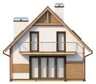 Проект дома балконом для узкого участка