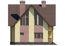 Интересный проект двухэтажного дома под высокой красивой крышей
