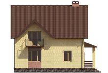 Блестящий коттедж на два этажа с небольшими балконами