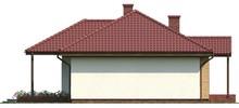 Проект классического одноэтажного дома с чердаком свободной планировки