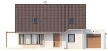 Проект дома с гостиной и боковой террасой
