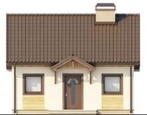 Проект небольшого загородного дома с крытой террасой