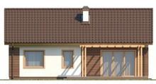 Одноэтажный дом с двухскатной крышей в классическом стиле