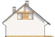Экономичный проект комфортного коттеджа с мансардой и гаражом