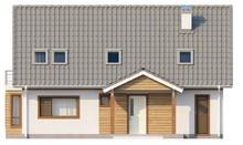 Проект дома с мансардой и балконом в спальне хозяев
