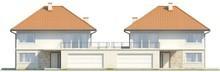 Проект 2-х этажного дома с террасой над гаражом