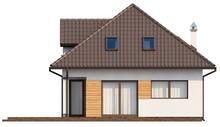 Проект дома с симпатичным балконом на мансарде