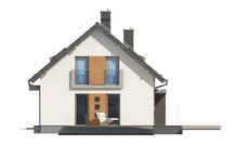 Проект маленького дома с мансардой и гаражом