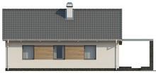 Современный дачный дом с большими окнами