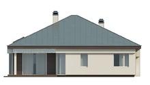 Одноэтажный дом с гаражом на две машины и панорамным окном в гостиной