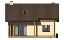 Компактный проект уютного загородного коттеджа в классическом стиле