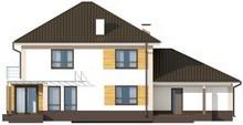 Классический двухэтажный дом с гаражом на две машины