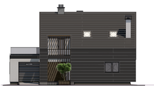 Современный коттедж в стиле барнхаус с пристроенным гаражом общей площадью 151 кв. м, жилой 65 кв. м
