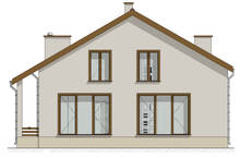 Проект светлого дома с цокольным этажом