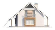 Проект просторного дома с мансардой и одинарным гаражом
