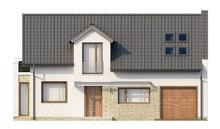 Современный уютный дом с одинарным гаражом