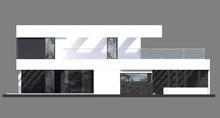 Жилой дом на два этажа в минималистическом стиле