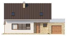 Проект дома с практичной мансардой, кабинетом и террасой над гаражом