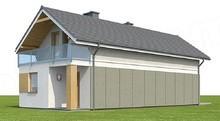 Двухэтажный жилой дом для узкого загородного участка