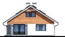 Современный жилой дом для узкого участка с гаражом