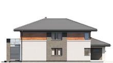 Проект шикарного двухэтажного  коттеджа с модным балконом