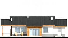 Проект современного коттеджа с деревянными колоннами