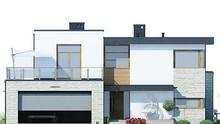 Модный современный загородный дом с террасами и верандами