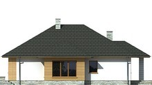 Проект одноэтажного коттеджа с просторными спальнями