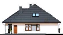 Стильный дом под крышей сложной формы