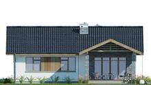 Современный коттедж со стильным кирпичным декором стен