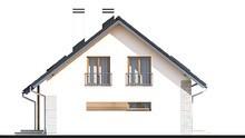 Стильный двухэтажный дом с кухней-студией и кабинетом на первом этаже