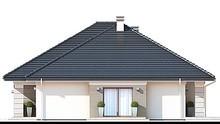 Одноэтажный дом с просторным гаражом и открытой террасой