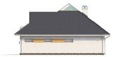 Мансардный коттедж с боковой террасой и гаражом