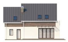 Проект дома с панорамными окнами в столовой