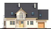 Живописный двухэтажный дом с роскошным эркером