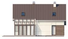 Проект загородного дома с мансардой, дополнительной спальней и застекленной террасой
