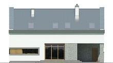 Красивый двухэтажный дом с интересным декором