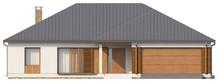 Проект уютного коттеджа с гаражом и крытой террасой