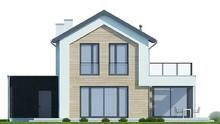 Двухэтажный дом с роскошной террасой