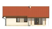 План классического дома общей площадью 120 кв. м в европейском стиле с пристроенным гаражом