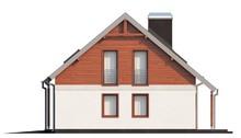 Проект уютного коттеджа в традиционном стиле с двускатной крышей