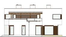 Проект современного особняка общей площадью 261 кв. м с огромной террасой на втором этаже