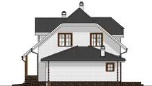 Кирпичный двухэтажный особняк в чешском стиле общей площадью 223 кв. м, жилой 155 кв. м