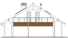 План роскошного коттеджа с белоснежными стенами жилой площадью 92 кв.м