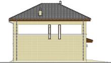 Проект современного двухэтажного дома общей площадью 194 кв. м с кирпичными фасадами