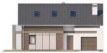 Мансардный дом с фронтальным гаражом