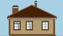 Компактный дачный домик общей площадью 73 кв. м, жилой 28 кв. м