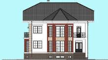 Величавый особняк с эркерами и цокольным этажом общей площадью 321 кв. м, жилой 121 кв. м