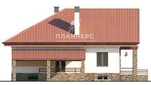 Схема трехэтажного дома площадью 431 кв. м с просторной террасой и большим балконом